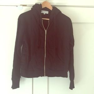 Wildfox Black Zip Up Hoodie Small